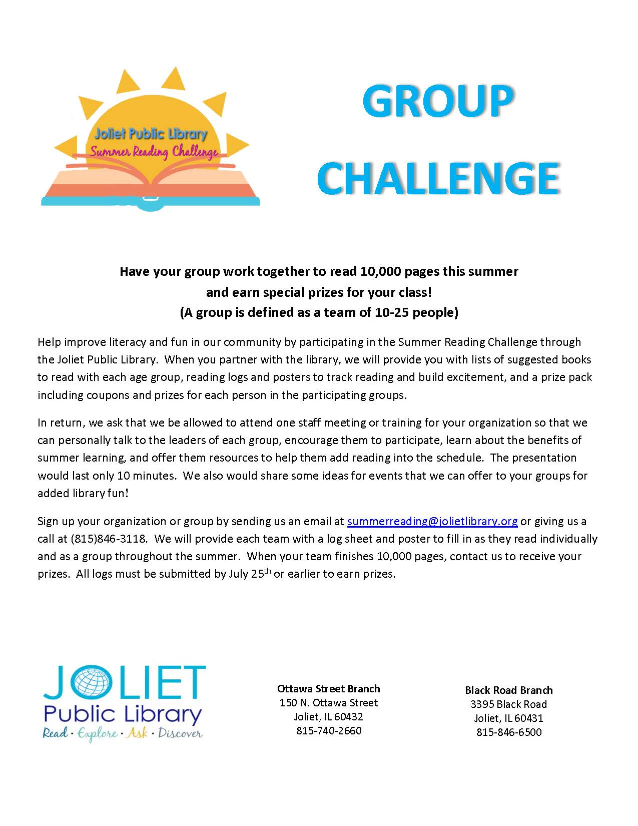 Group Challenge Information